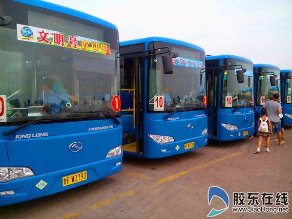 烟台3d手绘公交开放 十米车厢变身流动风景图