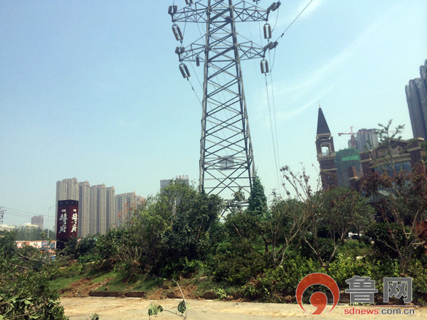 困扰业主的高压电塔