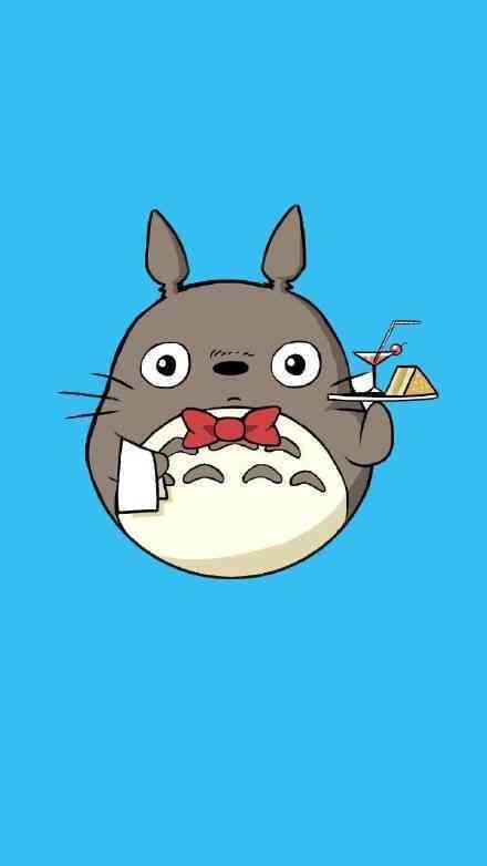 萌萌哒的卡通龙猫头像