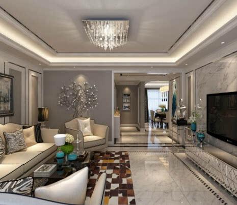 6款最受欢迎的客厅吊顶装修图 bulingbuling吊灯最配图