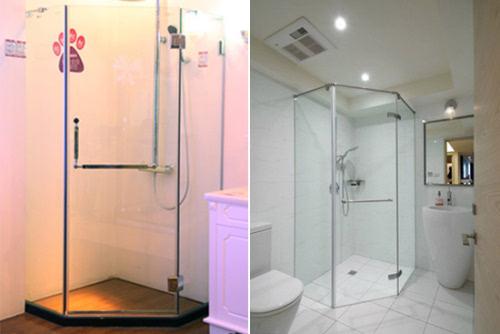 但淋浴房的形状,边框设计