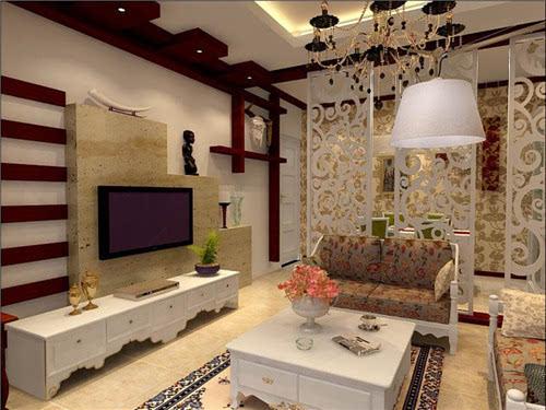 小户型装修实例,电视背景墙装修设计的十分有心意