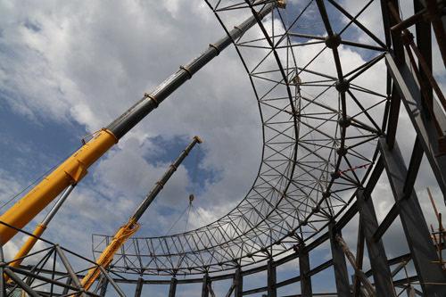 全国最大的钢结构蒙古包群落在内蒙古开工建设