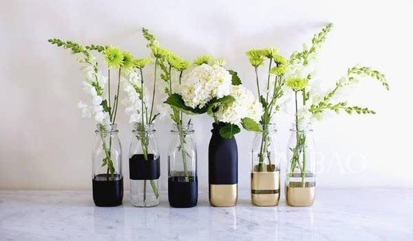 diy植物栽培 酒瓶,玻璃饮料瓶拿来做水培植物的容器再合适不过,很多