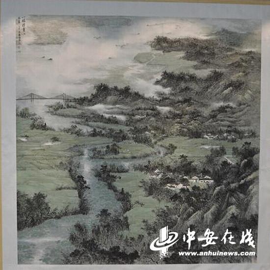 """""""中国梦 黄山魂""""全国山水画(中国画)作品展开幕"""