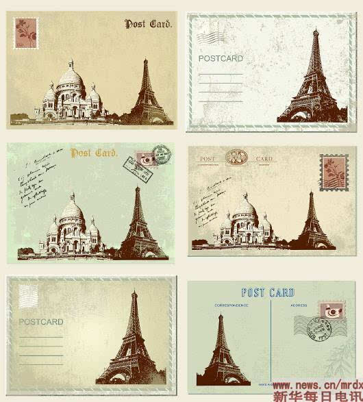 从经典雕塑到标志建筑,从名胜古迹到文化活动,明信片的内容可谓丰富