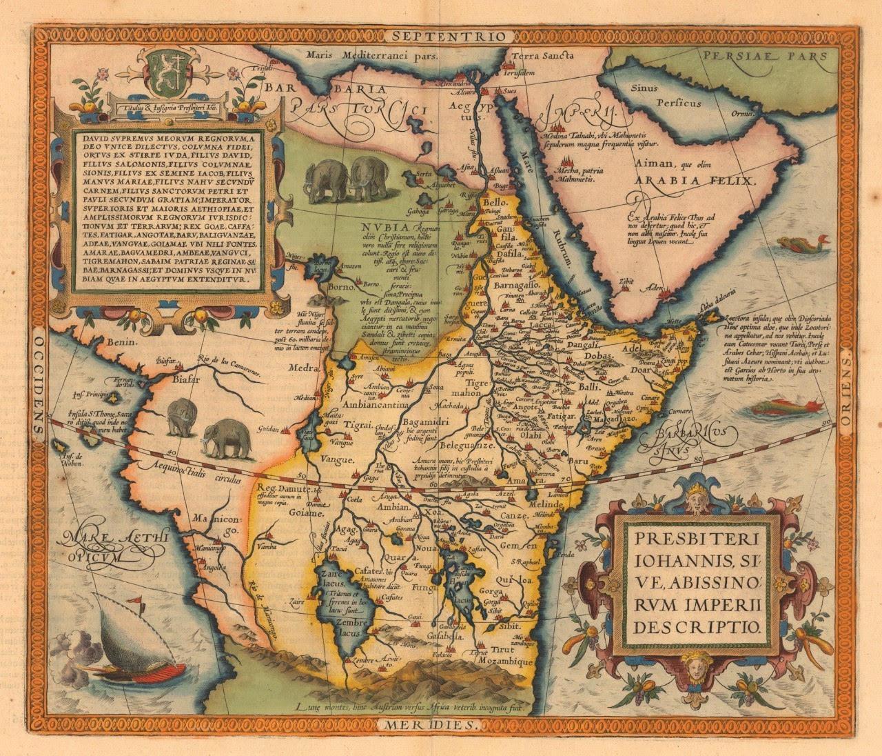 """""""在非洲地图上,地理学家们用野生动物"""