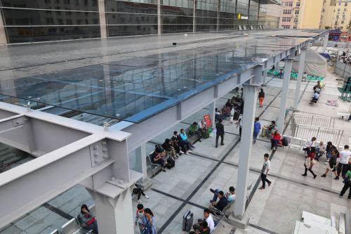 长途汽车站 风雨连廊 基本完工 改造进入收尾阶段