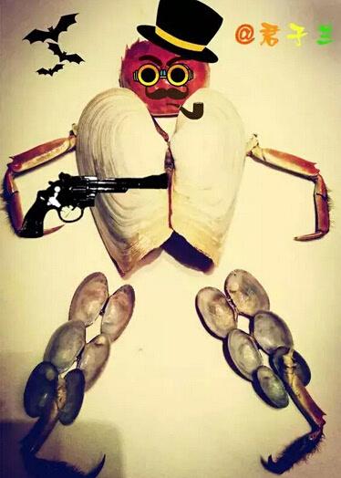 一起玩坏螃蟹 看新闻网微信粉丝螃蟹拼图(组图)图片