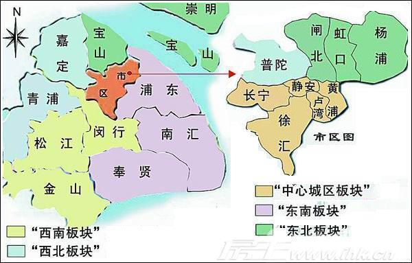 上海区域划分图