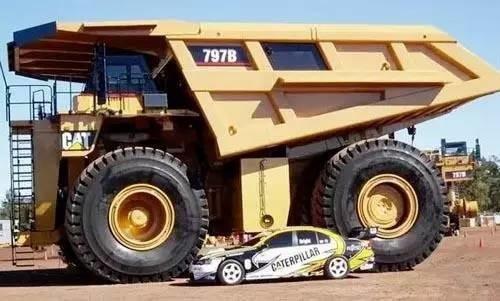 为345吨的797升级版卡特797b矿山车,成为世界上最贵载重量最大的卡车