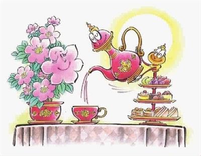 铁线莲和英式下午茶