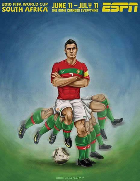 2010南非世界杯32强手绘海报