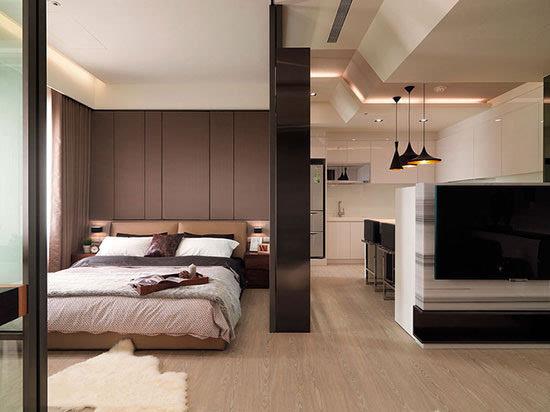 小户型大空间 50平现代大气公寓设计
