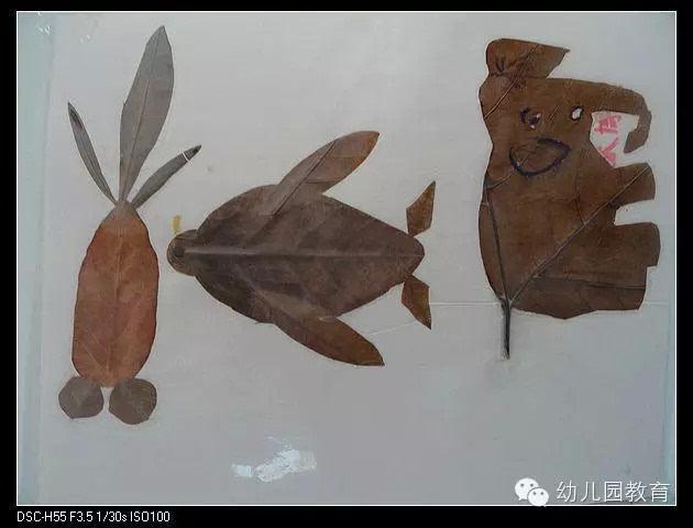幼儿园树叶粘贴画手工创意DIY制作大全(太美了)