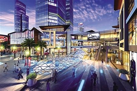 例如观音桥商圈目前空中商铺最集中的几栋建筑,都在步行街最便利的