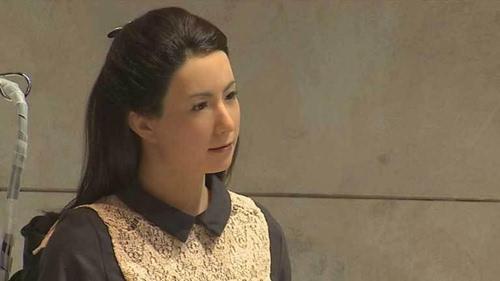 美女被强奸时的视频戏剧片_日本美女机器人出演电影 要抢明星饭碗?(组图)