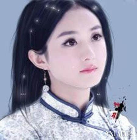 欣赏赵丽颖手绘图片 清纯甜美惹人爱