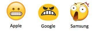 你看得懂这9个emoji表情在不同手机的意思吗?图片
