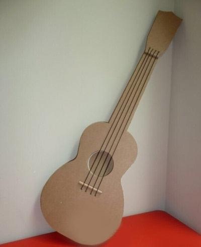 纸箱手工制作大全 吉他