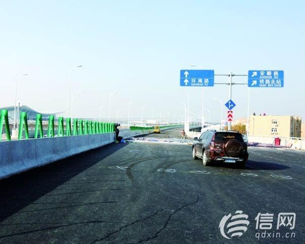 青岛金水路高架桥通车 环湾路可直通滨海大道