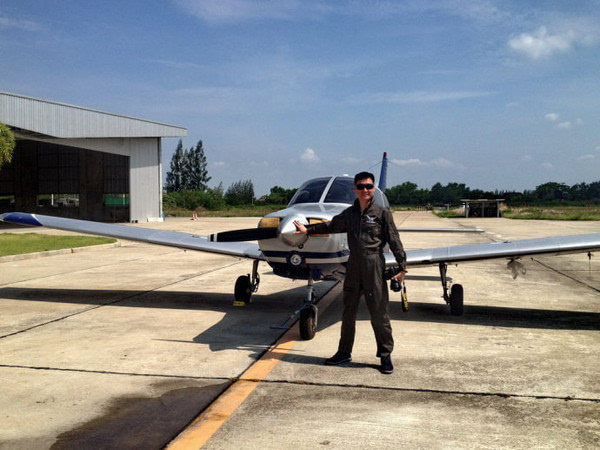 泰国的爱飞行俱乐部,换上飞行服