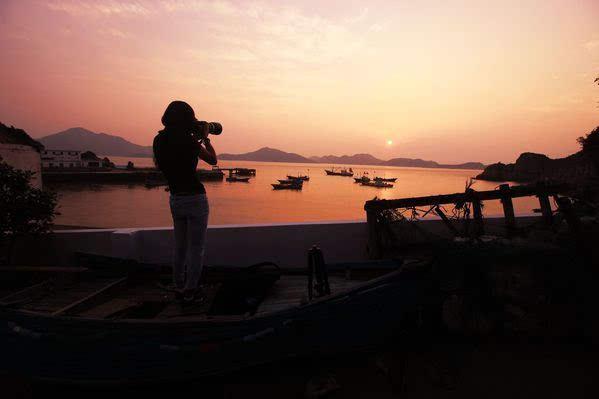 环游舟山白沙岛,看日出与日落