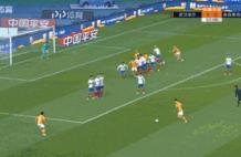 GIF-卡里索头球破门,卓尔两球领先黄海