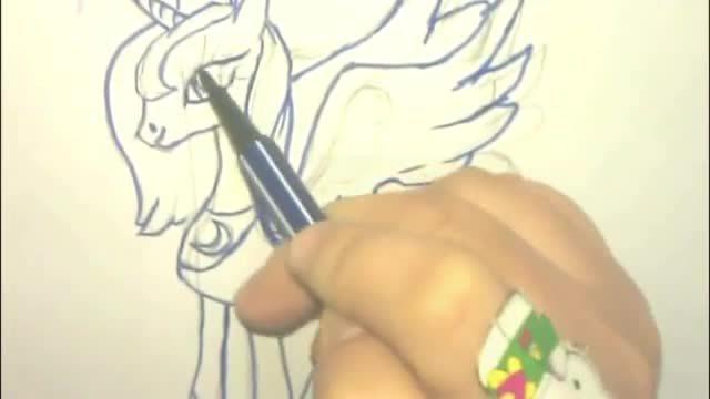 幼儿简笔画教学视频 小马宝莉 月亮公主