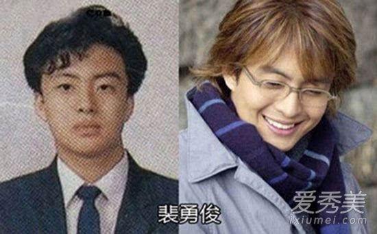 裴勇俊眼镜_鹿晗朴有天罗志祥 15位中韩男星整容前太丑了!