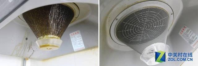 油烟机滤网清洗_清洁前后油烟机滤网对比