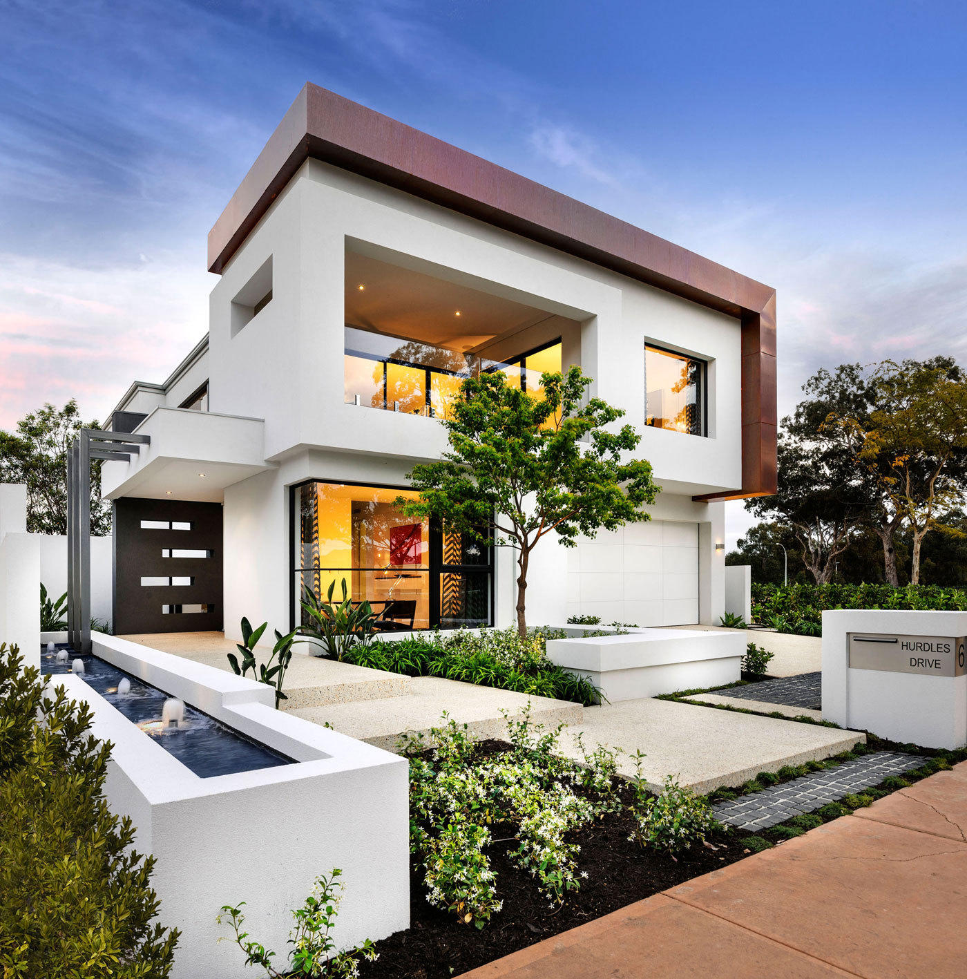 55 Best Modern House Plan Ideas For 2018: 现代简约别墅设计图_农村现代别墅设计图_国外现代简约别墅-圈子花园图片