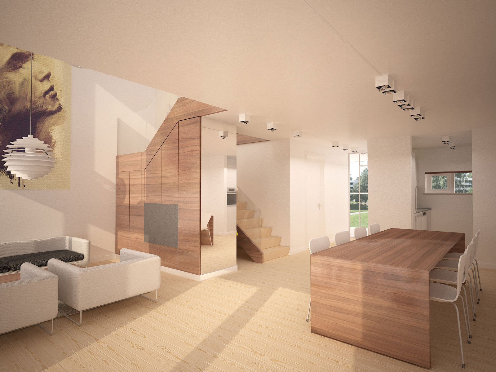 复式楼家居装修效果图_艺术总是骄傲的