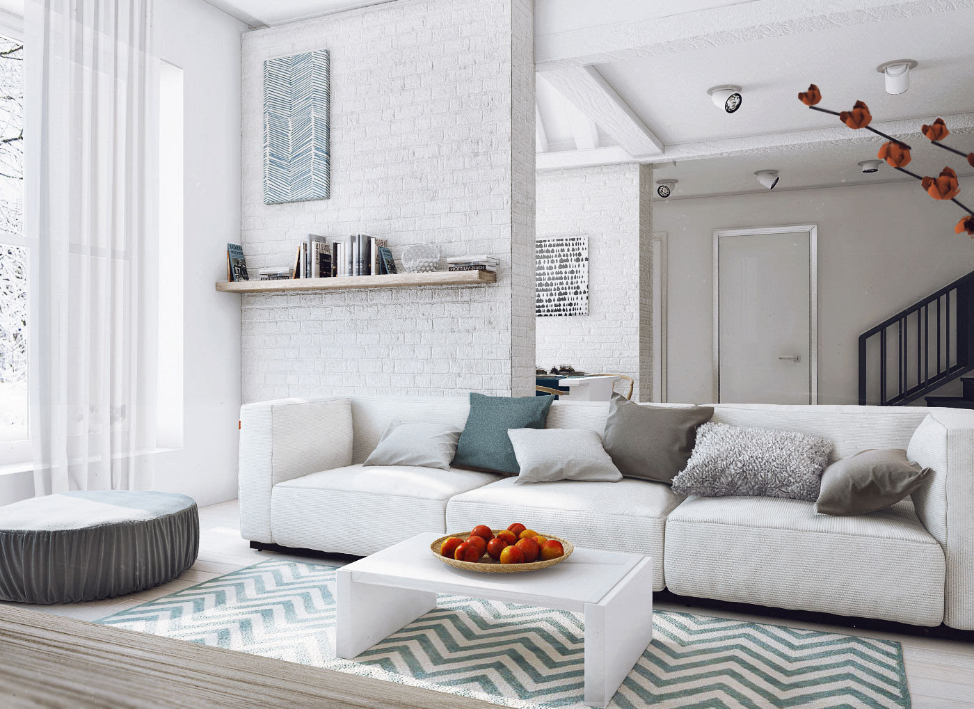 北欧风格房间装修图片_花儿装饰的灵气