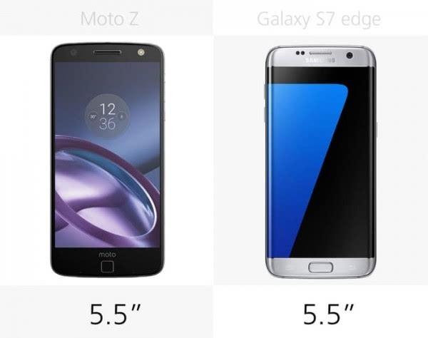 Moto Z和三星Galaxy S7 edge规格参数对比的照片 - 7