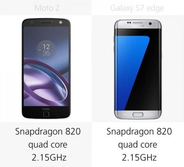 Moto Z和三星Galaxy S7 edge规格参数对比的照片 - 13