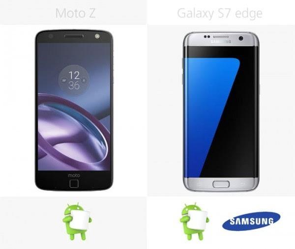 Moto Z和三星Galaxy S7 edge规格参数对比的照片 - 28