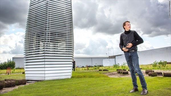世界上最大的清洁净化器将空气污染转成首饰的照片 - 1