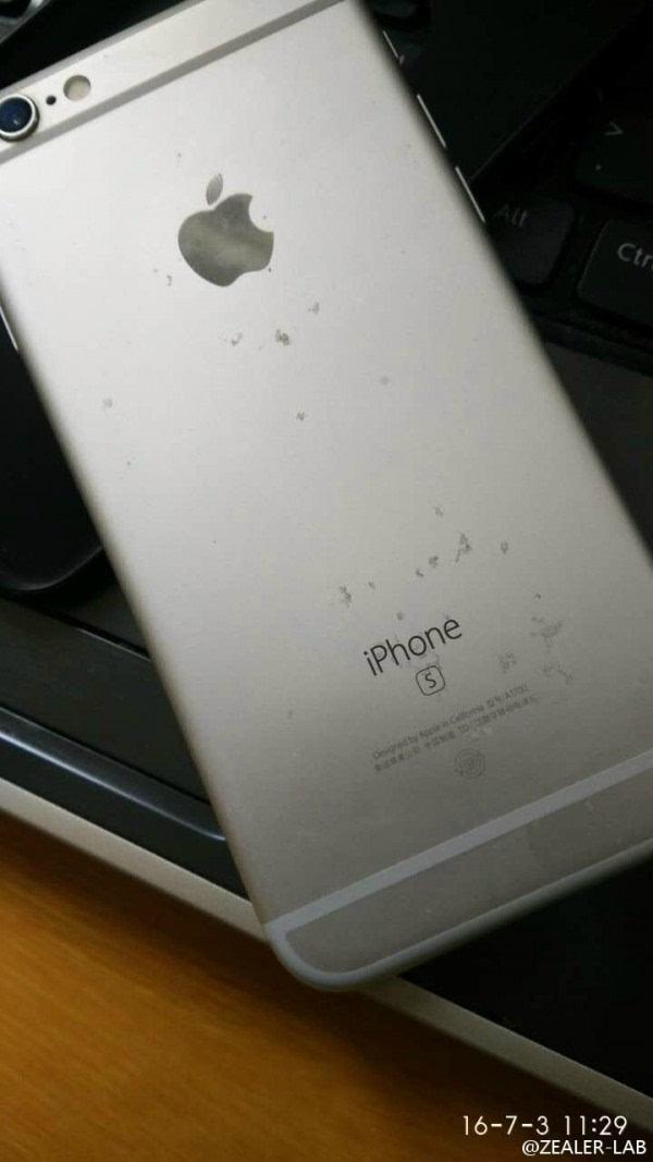 """不忍直视:玫瑰金iPhone 6S氧化变""""蕾丝""""的照片 - 2"""