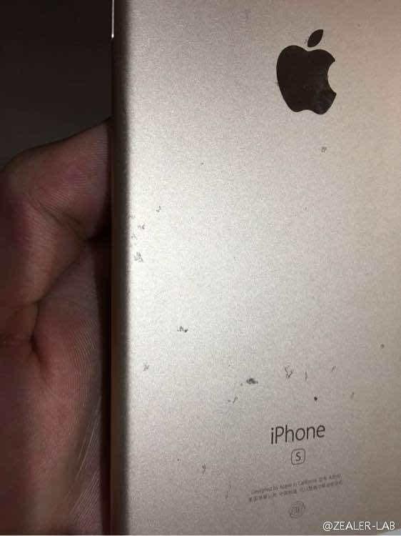 """不忍直视:玫瑰金iPhone 6S氧化变""""蕾丝""""的照片 - 4"""