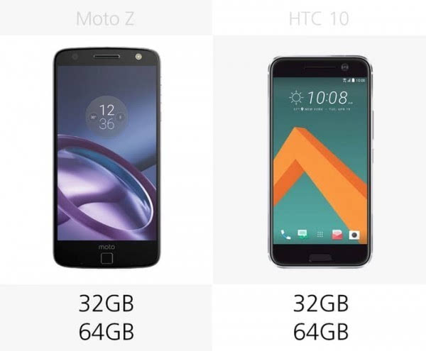 Moto Z和HTC 10规格参数对比的照片 - 15
