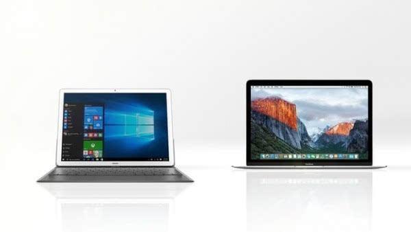 华为MateBook和苹果MacBook规格参数对比的照片 - 1