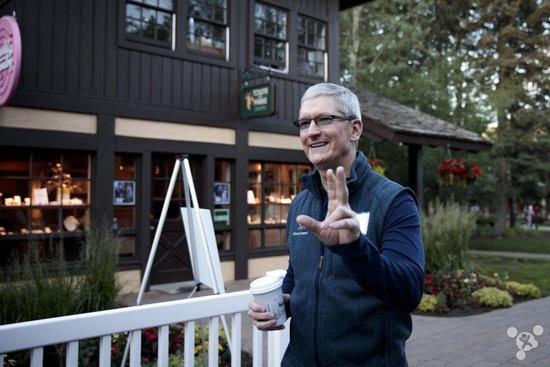 尴尬: 库克被餐厅告知不支持Apple Pay的照片