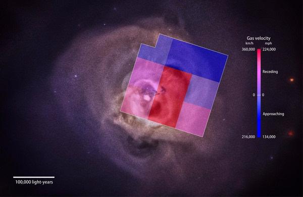 """""""瞳""""任务首次绘制出星系团炽热风的图像"""