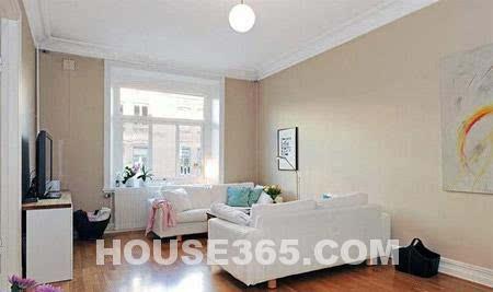 60平房屋装修效果图 洁白家居风格