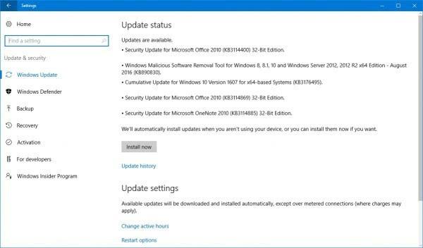 微软为Windows/Edge/Office推送8月安全更新的照片