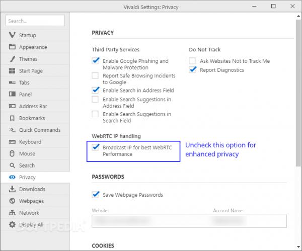 Vivaldi 1.3发布:定制UI、WebRTC IP泄露隐私控制等的照片 - 2