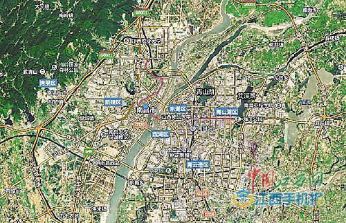 """卫星地图带你看""""南昌绿"""" 美丽省城让我们享受深呼吸"""