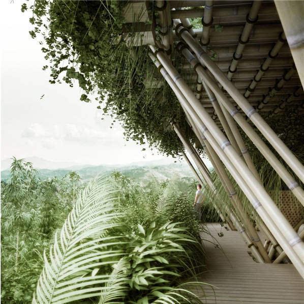 他用竹子打造一栋房子 却未使用一根钉子的照片 - 1