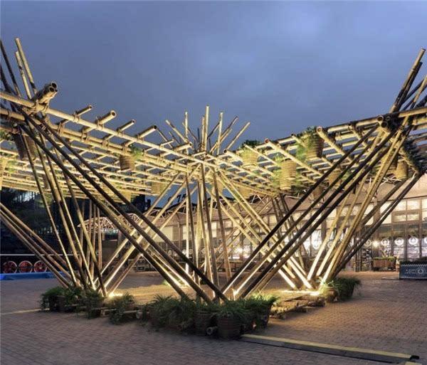 他用竹子打造一栋房子 却未使用一根钉子的照片 - 8